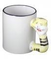 Чаша за сублимационен печат с дръжка - тигър