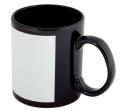 Чаша за сублимационен печат - черна с бял правоъгълник